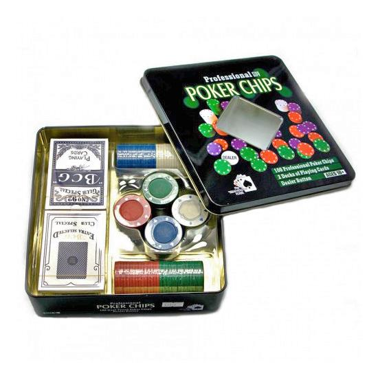 Покерный набор (2 колоды карт,100 фишек)