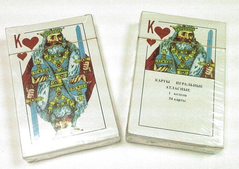 Карты игральные атласные, (54 шт.)