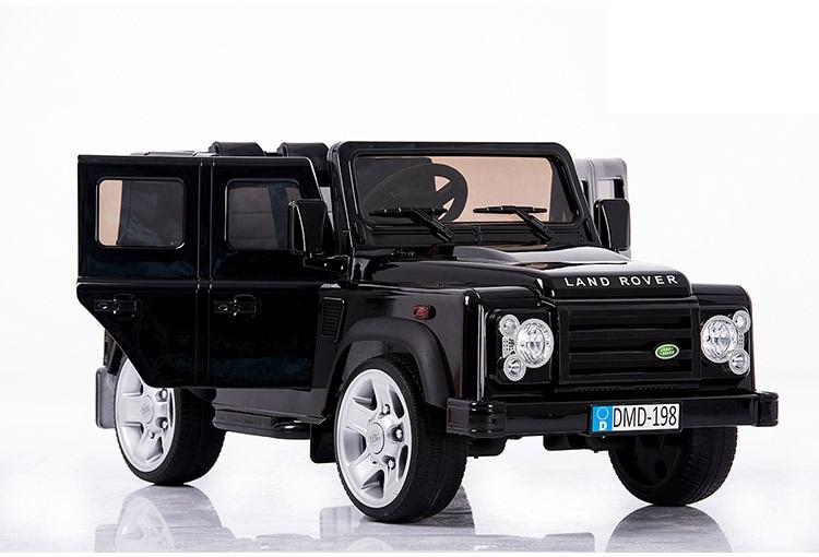 Электромобиль Land Rover Defender черный