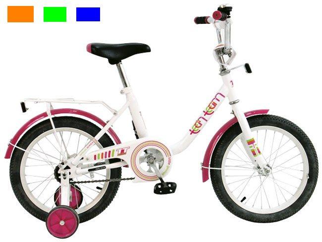 Велосипед двух-колёсный 16 16131 (4цв. Оранж, зелён, синий, розов