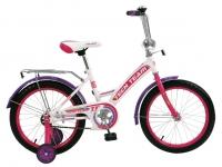 Велосипед двух-колёсный 12 12135 (4цв. Белый зелён, синий, фиолет