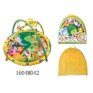 Детский игровой коврик с погремушками в сумке №042
