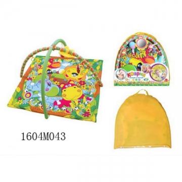 Детский игровой коврик с погремушками в сумке №043