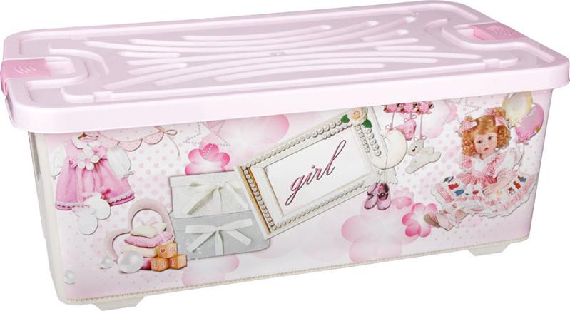 Ящик для игрушек Альтернатива Girl М2340