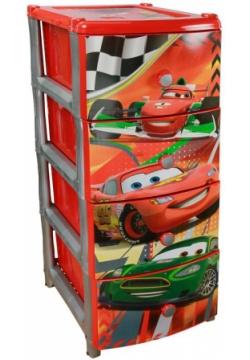 Ящик для игрушек Альтернатива М1639 Тачки