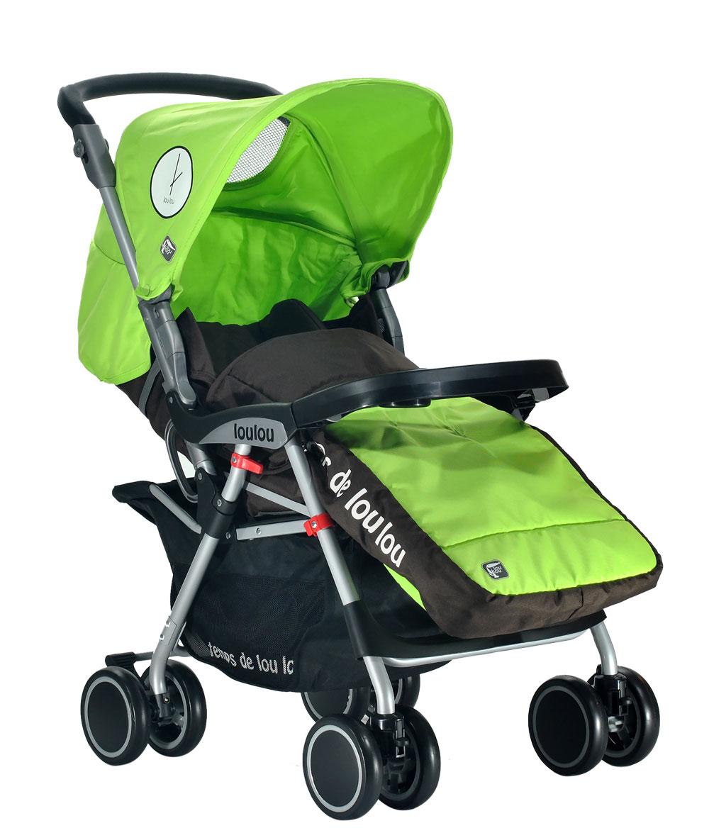 Коляска прогулочная Lou Lou E360 Luxe зеленый/green