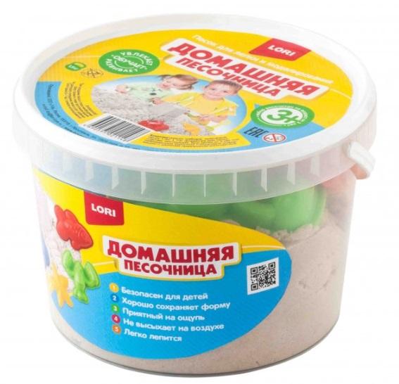 """Домашняя песочница """"Морской песок"""" 1,5 кг, формочки, совочек Дп-003"""