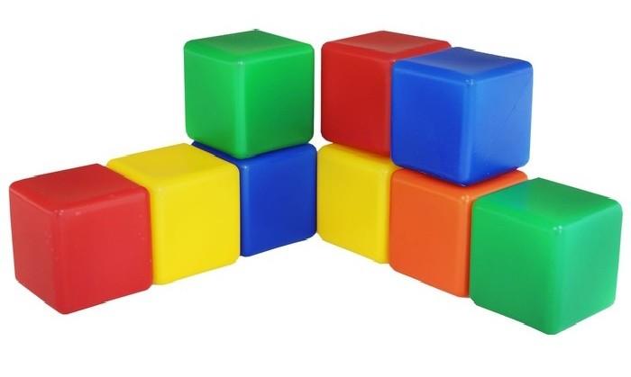 Кубики цветные 9 шт МР
