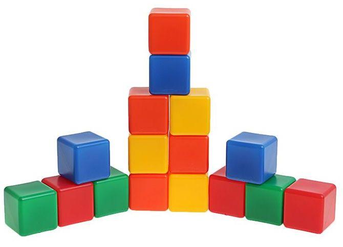 Кубики цветные 16 шт МР