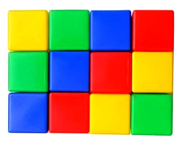 Кубики цветные 12 шт МР