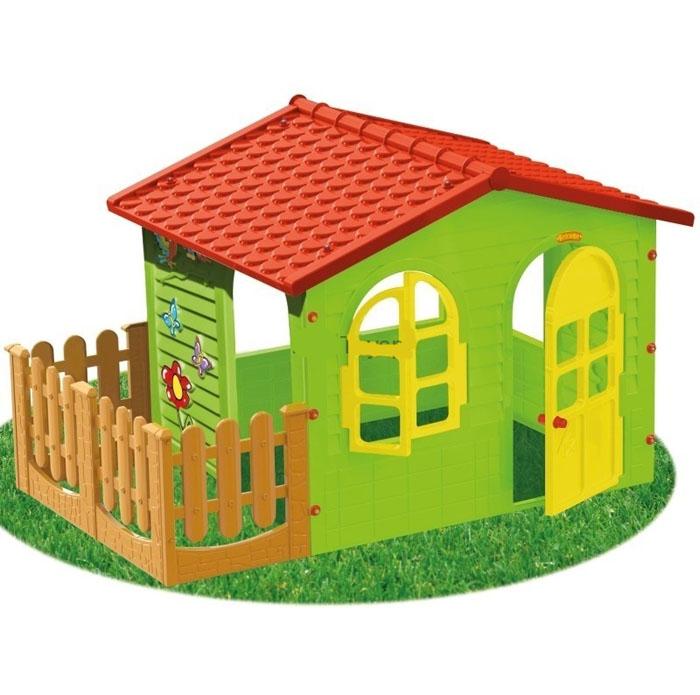 Игровой детский домик высотой 115x20x132 cm (Большой с террасой)