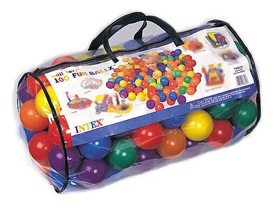 49600 100 пластмассовых шариков Intex