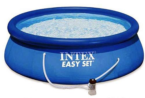 56412 Надувной бассейн 457х91 см. + насос-фильтр Intex