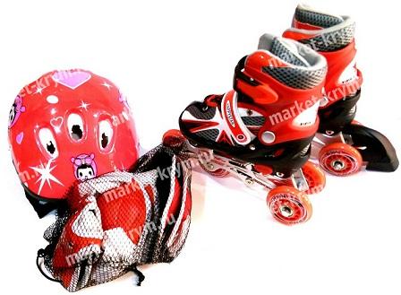 Роликовые коньки с набором защиты Happy Star