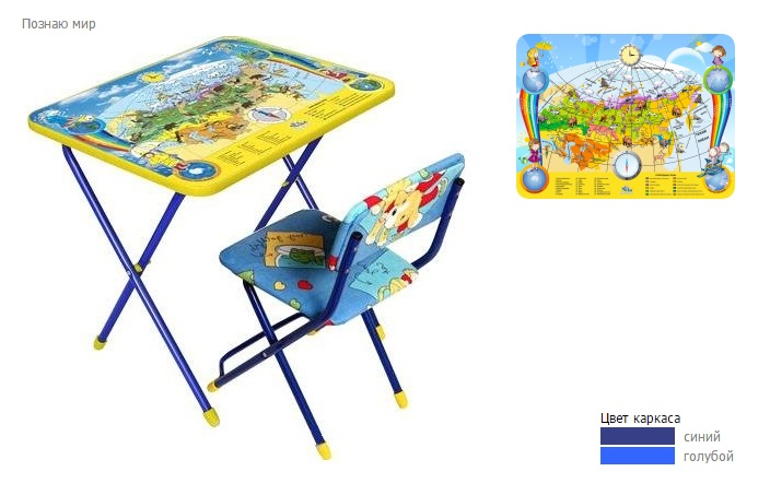 """Комплект детской мебели """"Познайка. Познаю мир"""", стул мягкий. Ника"""