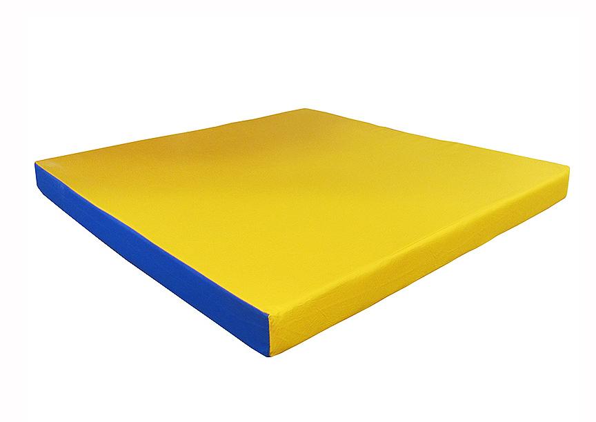 Мат №2 (100*100*10) сине/желтый 7859
