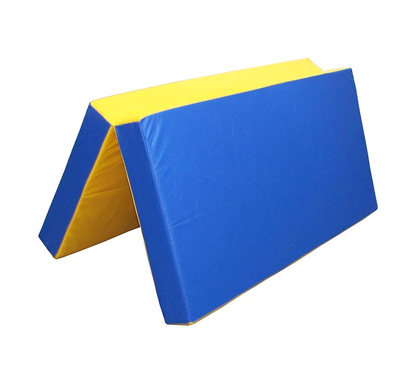 """Мат №3 (100*100*10) складной """"Перфетто спорт"""" сине/желтый 3668"""