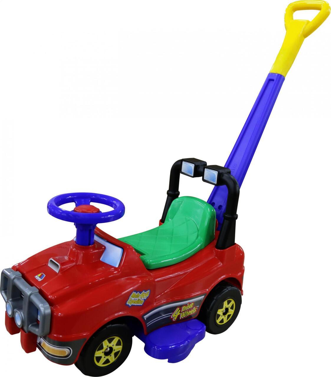 Автомобиль Джип-каталка с ручкой - №2