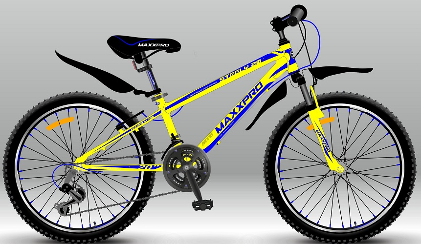 """Велосипед спортивный MaxPro STEELY 20 (Хардтейлы 20"""")"""